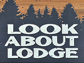 Look About Lodge Sign